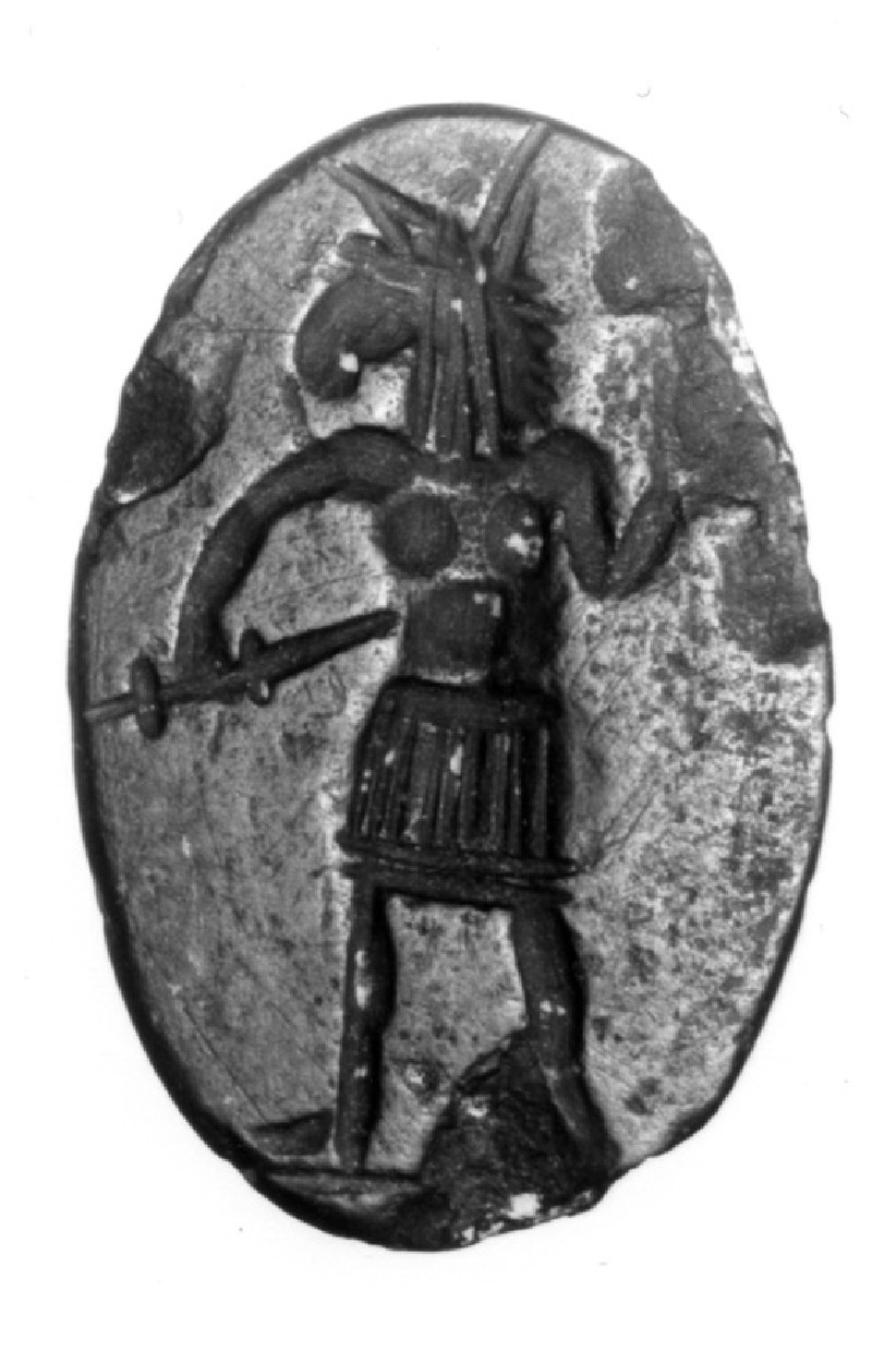 Magical intaglio with a depiction of Anubis