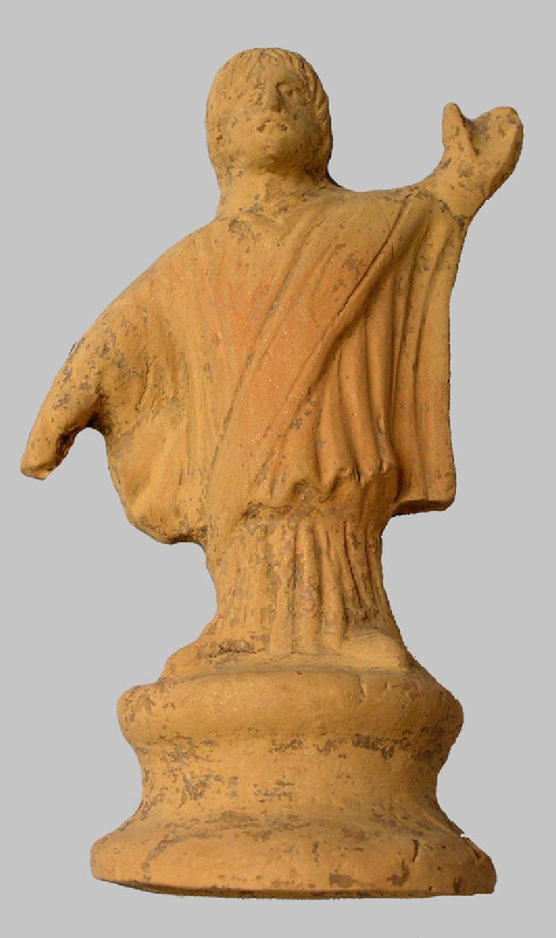Terracotta figure of Christian priest or declaiming orator