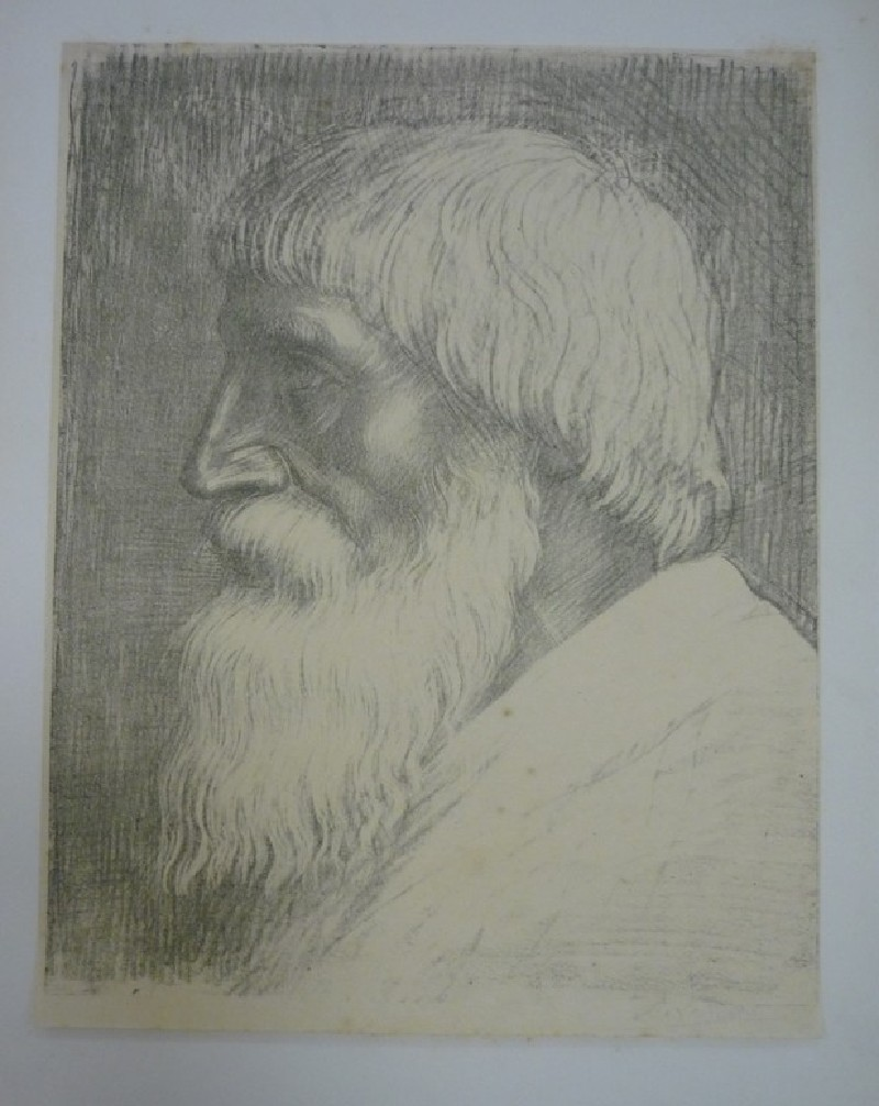 Portrait of a bearded old man in profile looking to the left (WA1988.266, record shot)